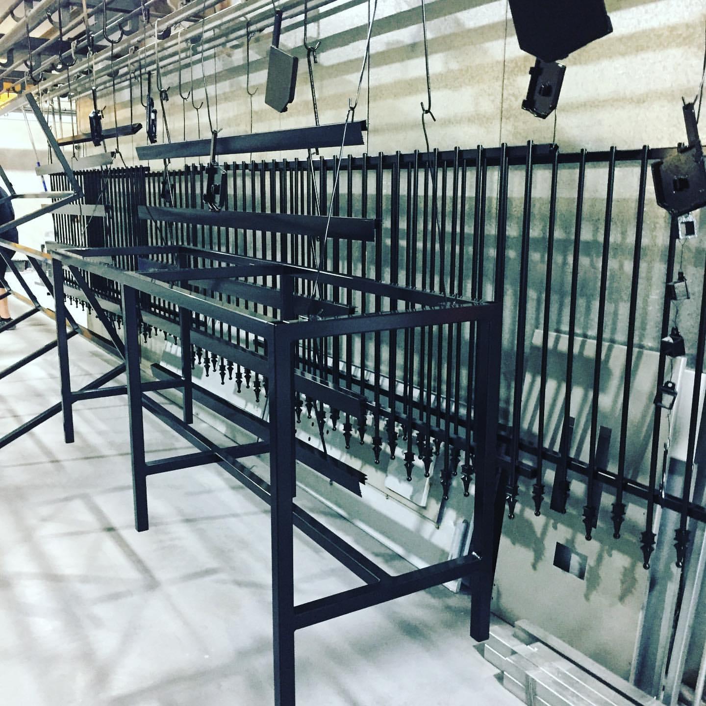 powder coating fence panels